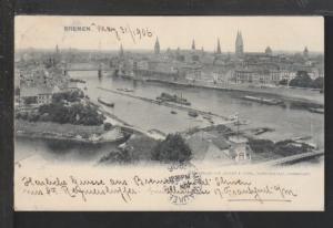 Panorama,Bremen,Germany Postcard