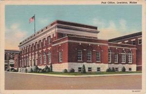 Maine Lewiston Post Office Curteich