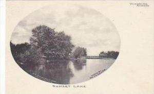 Michigan Vicksburg Sunset Lake Albertype