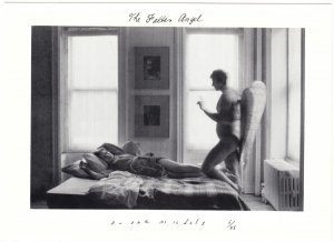 The Fallen Angel by Duane Michals Photography Postcard #1