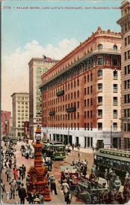 Palace Hotel San Francisco CA California Calif c1909 Postcard D93