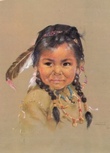 Canadian Indian Child , Artist Dorothy Oxborough , 1972 , #10