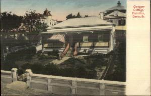 Hamilton Bermuda Glengary Cottage c1910 Hand Colored Postcard