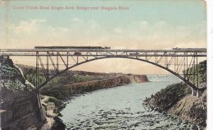Grand Trunk Steel Single Arch Bridge Over Niagara River, New York, 1900-1910s