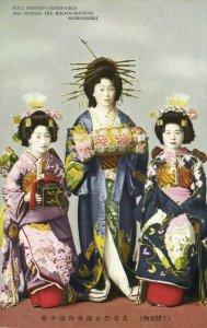 japan, SHIMONOSEKI, Full dressed Geisha Girls visiting Mikado Matsuri (1920s) 3
