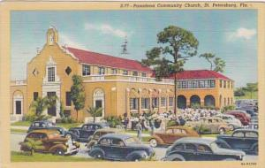 Florida St Petersburg Pasadena Community Church 1946 Curteich