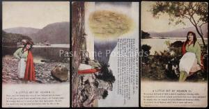 WW1 A LITTLE BIT OF HEAVEN Bamforth Song Cards set of 3 No 4883/1/2/3