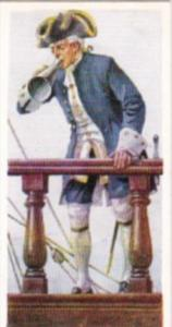 Carreras Vintage Cigarette Card Naval Uniforms No 13 Post Captain 1740