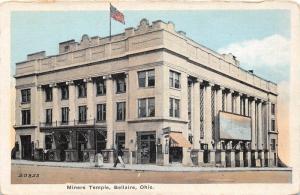 E67/ Bellaire Ohio Postcard Belmont County c1910 Miners Temple Building