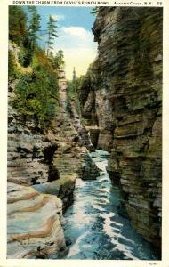 NY - Ausable Chasm. Down the Chasm from Devil's Punchbowl