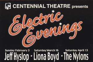 Centennial Theatre Presents Electric Evenings Vancouver Canada