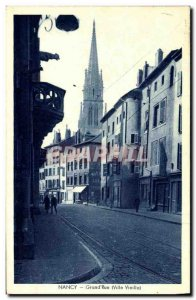 Old Postcard Nancy Grand Old Street City