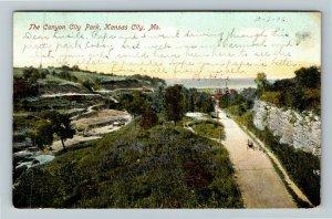 Kansas City MO-Missouri, The Canyon City Park, Vintage c1906 Postcard