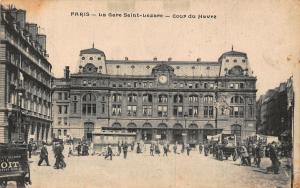 France Paris La Gare Saint Lazare Cour du Havre Station Postcard
