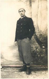 Vintage photo postcard elegant young man male early fashion mode pants