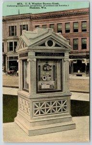 Madison Wisconsin~US Weather Bureau Kiosk~Stationary Store~Law Offices~c1910