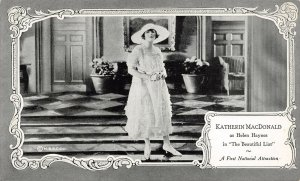 LP91 Katherin MacDonald Silent Film Movie Actor Star Postcard Beautiful Liar