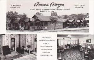 South Dakota Rapid City Arneson Cottages Real Photo RPPC