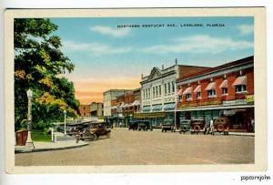 Lakeland FL Street View Old Cars Postcard