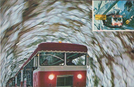 The Doomed Glacier Bus Visits in Avalanche Universal Studios Disaster Postcard