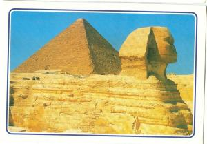 Egypt, Giza, The Great Sphinx and Keops Pyramids unused Postcard