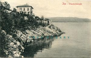 1910 Jka / Ika Croatia (Then In Austria) PC: Walkway  Along Undeveloped Coast