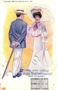 Romantic Couple Puzzle Card When Were Walking Sticks First Introduced