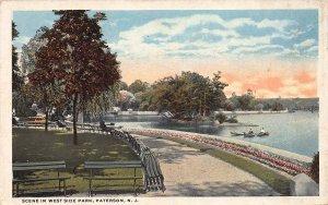 Scene in West Side Park, Paterson, N.J., Early Postcard, Unused