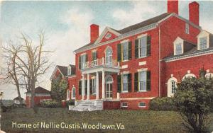 D97/ Woodlawn Virginia Va Postcard c1910 Home of Nellie Custis Residence