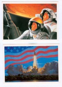 Star Way of Humanity Space Postcards set, 16 postcards , CCCP, 1989