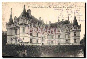 Old Postcard Azay le Rideau Chateau