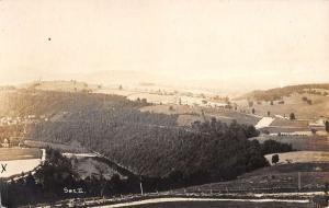 Laceyville ? Pennsylvania Birdseye View Real Photo Antique Postcard K10728