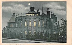 BRADFORD WEST YORKSHIRE UK CHILDREN'S HOSPITAL~COE COLLOTYPE NIGHT VIEW POSTCARD