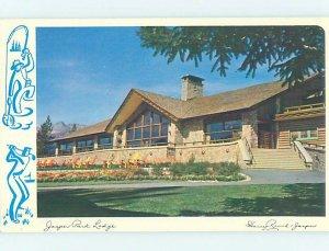 Pre-1980 LODGE SCENE Jasper Alberta AB AE0623
