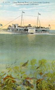 CA - Catalina Island. Glass Bottom Boat & Submarine Gardens