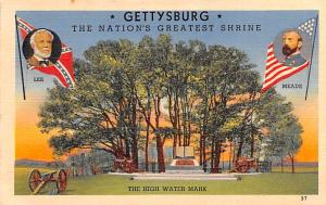 Civil War Post Card Old Vintage Antique Postcard Gettysburg, High Water Mark,...