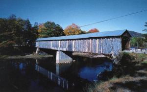 VT - West River.  Old Scott Covered  Bridge