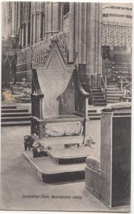 UK, Coronation Chair, Westminster Abbey, unused Postcard