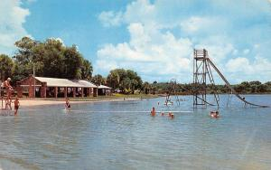 Haines City Florida~Lake Eva Bathing Beach~Life Guard~Picnic Shelter~1960 PC