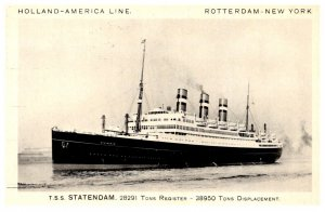 T.S.S. Statedom , Holand-America Line