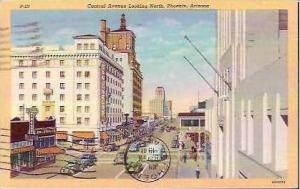 AZ Phoenix Central Avenue Looking North 1941