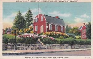 Connecticut New London Nathan Hale School Built 1774 Curteich