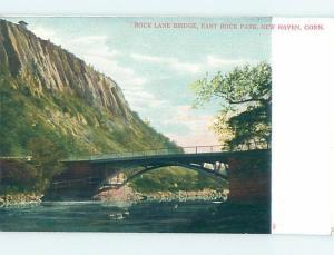 Pre-1907 BRIDGE SCENE New Haven Connecticut CT H9182