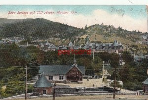 1909 MANITOU CO Soda Springs and Cliff House, publ Saidy, to Oscar Buckman