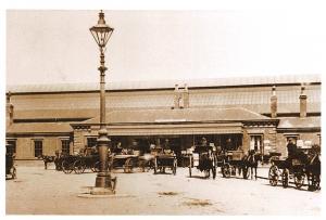 Vintage Reproduction Postcard Beverley Train Railway Station East Riding D20