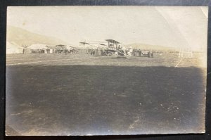 Mint RPPC Real Picture Postcard Early Aviation Biplane Competition
