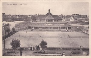 Coxyde Bains The Tennis Courts Antique Belgium Postcard