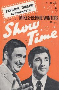 Mike & Bernie Winters Pavillion Theatre Bournemouth Dorset Theatre Programme