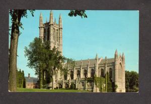CT Chapel Trinity College Hartford Conn Connecticut Postcard