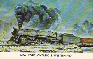 New York Ontario and Western Railway Y-2 Locomotive No 457 At Youngs Gap Abov...